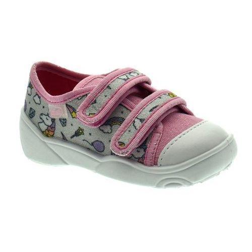 Trampki dziecięce Befado 907P115 Maxi - Różowy   Szary
