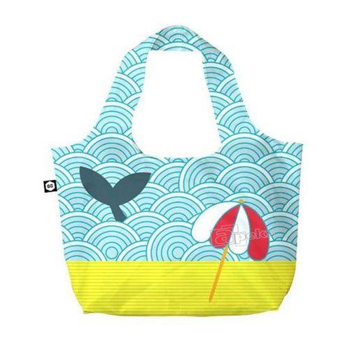 Bg berlin eco bags eco torba na zakupy 3w1 - light whale (6906053042087)