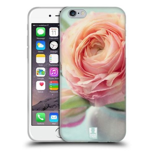 Etui silikonowe na telefon - Flowers PINK PEACH ROSES IN A VASE, kolor różowy