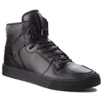 Sneakersy SUPRA - Vaider 08201-081-M Black/Black/Red, kolor czarny