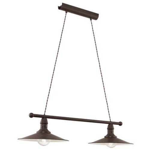 Eglo Lampa wisząca 2x60w stockbury, 49457