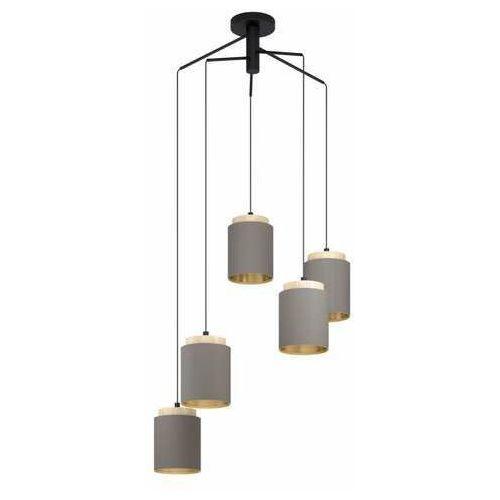 Eglo albariza 99447 lampa wisząca zwis 5x40w e27 czarna/brązowa