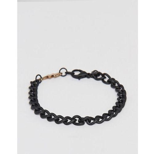 Classics 77 black chain bracelet with thunder bolt charm - Black, kolor czarny