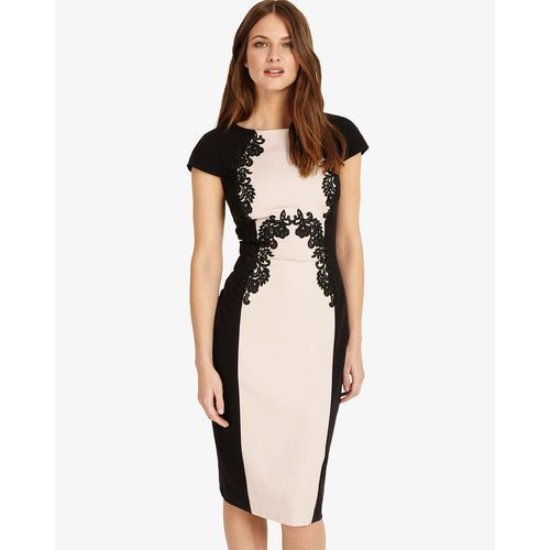 Phase eight gilly lace trim dress