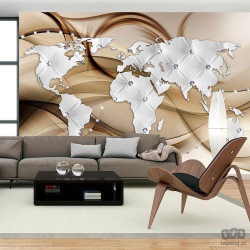 Fototapeta mapa świata - biały & diamenty k-a-0031-a-b, marki Murando