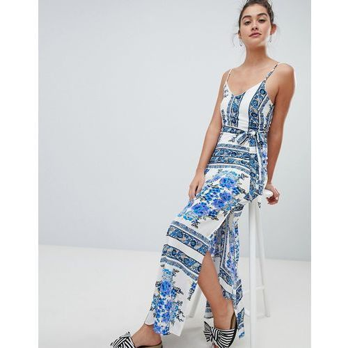 printed cami maxi dress - white, Parisian