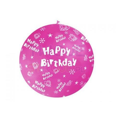 BALON HAPPY BIRTHDAY MIX 100cm 1szt, #A526^r