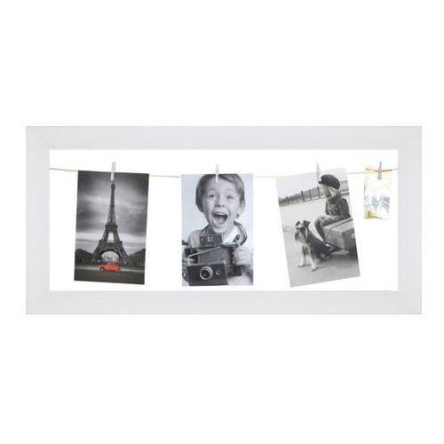 Galeria na zdjęcia 20 x 50 cm sznurkowa biała