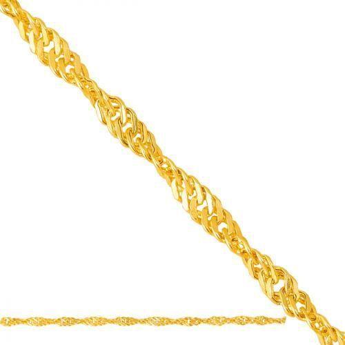 złoty łańcuszek pełny Singapurka Lp020 - produkt z kategorii- Łańcuszki