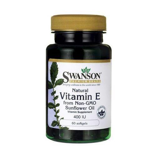 Kapsułki Swanson Witamina E Naturalna 400IU z oleju z pestek słonecznika 60 kaps.