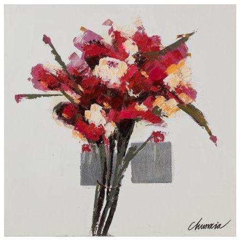 obraz flora ii 80x80, 80 × 80 marki Dekoria