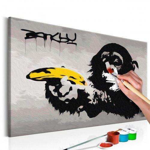 Artgeist Obraz do samodzielnego malowania - małpa (banksy street art graffiti)