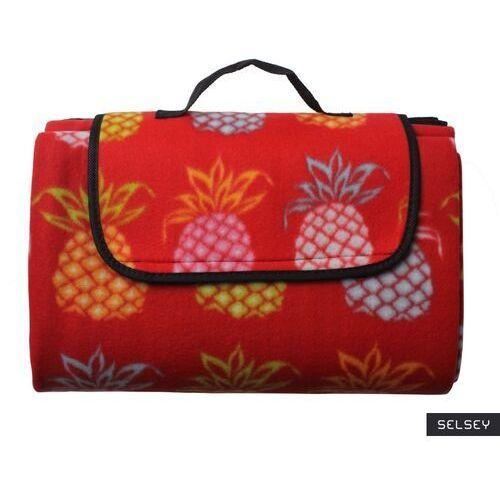 SELSEY Koc piknikowy Mayo 135x175 cm czerwony wodoodporny, kolor czerwony