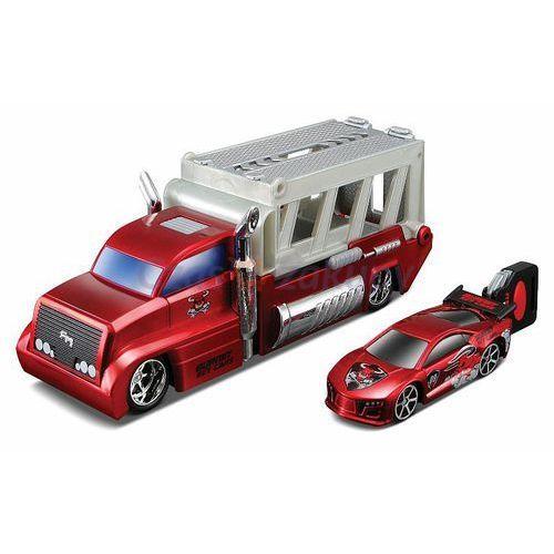 MAISTO Burnin' Key Cars Ciężarówka + autko Street Speeder