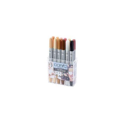 COPIC Ciao Markery Kolory Skóry 12 szt - produkt z kategorii- Pozostałe malarstwo i artykuły plastyczne