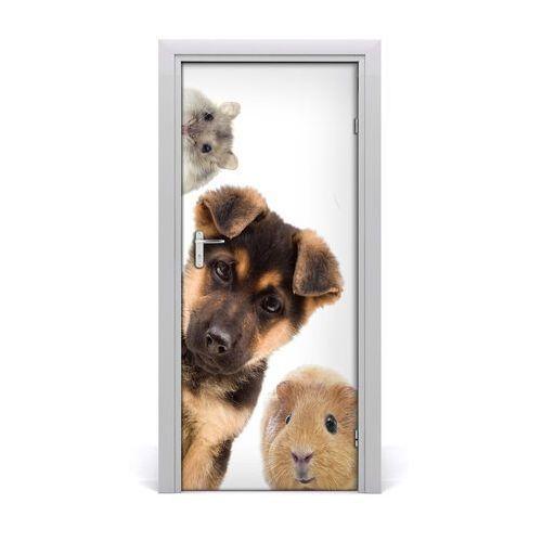Naklejka samoprzylepna na drzwi zwierzęta domowe marki Tulup.pl