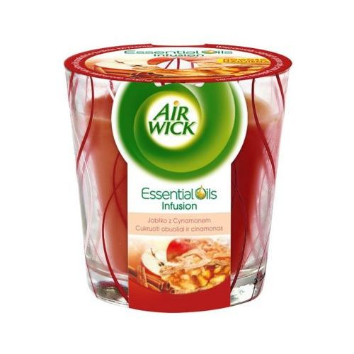 Air wick 105g jabłko z cynamonem essential oils infusion świeczka marki Reckitt benckiser
