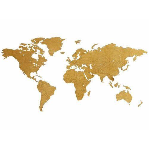 Duża dekoracja drewniana na ścianę Mapa świata z granicami państw