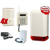 BEZPRZEWODOWY ZESTAW ALARMOWY ELMES, 4 x CZUJNIK, GSM, SYGNALIZATOR, EL14