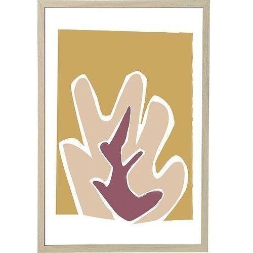 Bloomingville Plakat z ramą 45 x 65 cm żółto-różowy