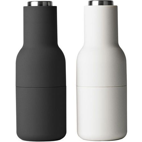 Młynek do pieprzu i soli Bottle Grinder 2 szt. szare / stal