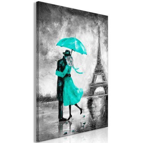 Obraz - Paryska mgła (1-częściowy) pionowy zielony
