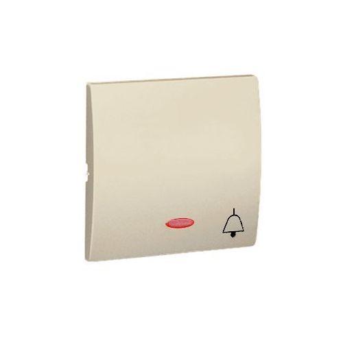 Klawisz pojedynczy z piktogramem dzwonka do podświetlenia CLASSIC Beżowy
