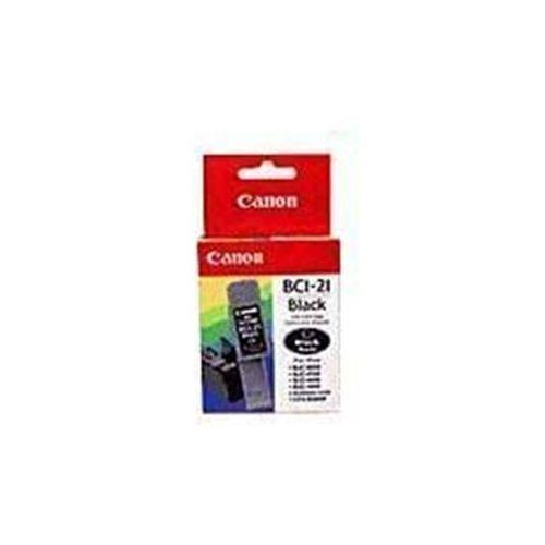 Wyprzedaż Oryginał Tusz Canon BCI-21BK 0954A002 do Canon BJC2000 BJC2100 BJC4000 BJC4100 BJC4200 BJC4400 BJC4300 BJC4550 BJC4650 BJC5100 BJC5500 S100 | 9 ml | czarny black, pudełko zastępcze, oryginalny airbag/folia