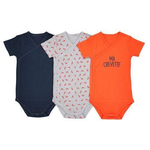 La redoute collections Zestaw 3 body niemowlęcych z krótkim rękawem - 2 latka