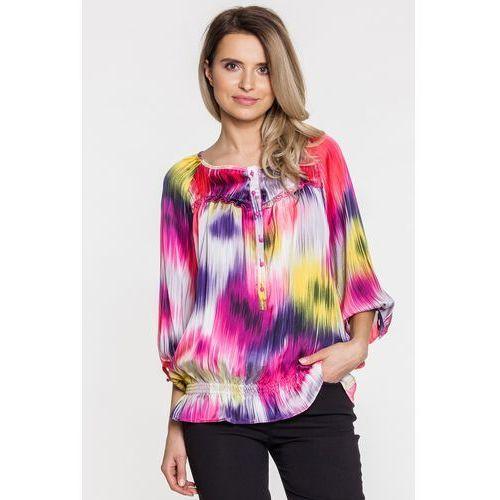 Różowa bluzka we wzory - Duet Woman, kolor różowy