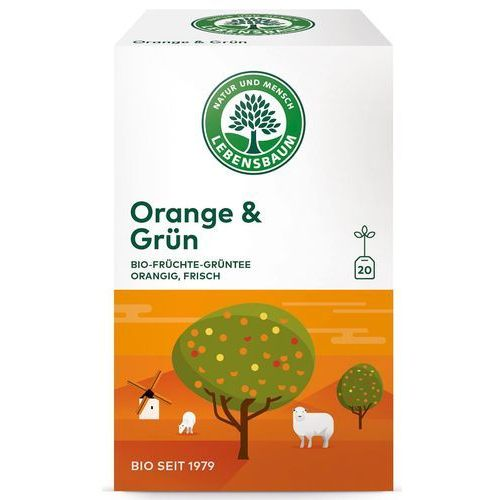 Herbata zielona z pomarańczą ekspresowa bio 20 x 1,5 g lebensbaum marki Lebensbaum (przyprawy, herbaty, kawy)