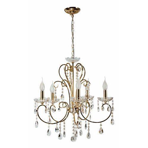 Lampa wisząca Candellux Aurora 5x40W E14 złoty 35-08575, kolor Złoty