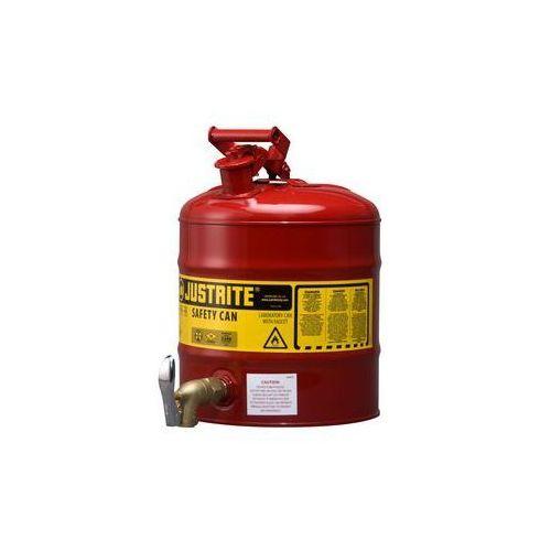 Bezpieczny pojemnik z kurkiem dozującym,blacha stalowa, lakierowanie na kolor czerwony