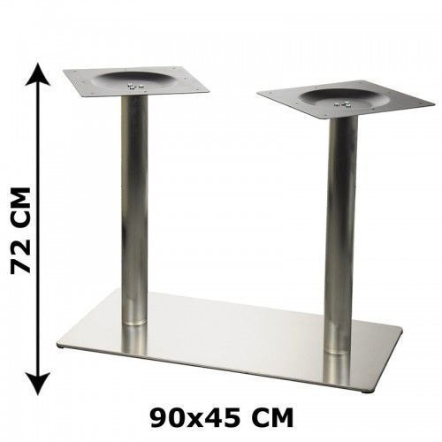 Stema - od Podstawa stolika e24 podwójna, stal nierdzewna szczotkowana (stelaż stolika, stołu)