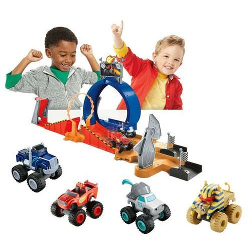 Fisher-price Fisher price blaze i mega maszyny tor monster dome i 4 auta blaze crusher sfinks knight
