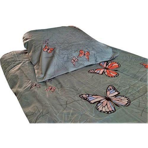 POŚCIEL satyna bawełniana, szare motyle