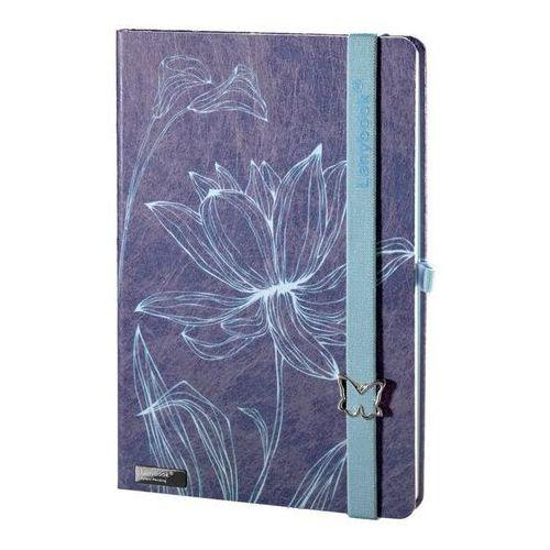Lediberg Notes a5 lanybook lovely butterfly w kratkę niebieski