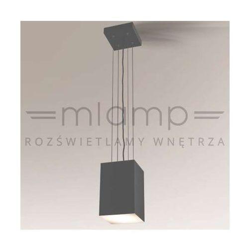 LAMPA wisząca ZAMA 5560/LED/SZ Shilo prostokątna OPRAWA metalowa LED 15W 3000K zwis szary, kolor Szary