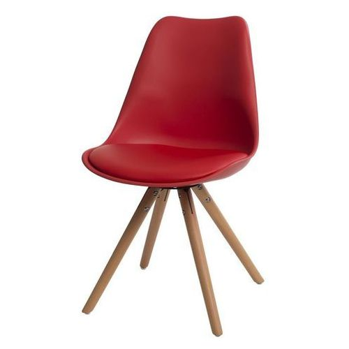 Krzesło norden star (czerwone) d2 marki Domfan design