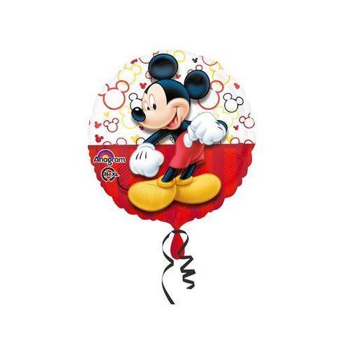 Twojestroje.pl Balon myszka mickey biało-czerwony 17'' 43cm (0026635306454)