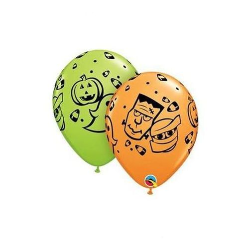 Balony lateksowe Halloween Fun - 30 cm - 5 szt.