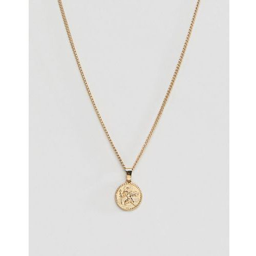 Liars & lovers gold coin pendant necklace - gold