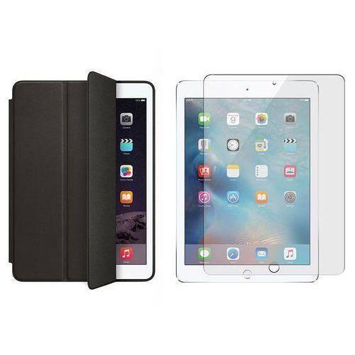 Etui Smart case do iPad Pro 9.7 Czarne + Szkło hartowane - Czarny, kolor czarny