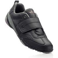Buty sportowe skórzane lico czarny marki Bonprix