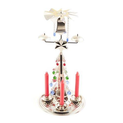 Tradycyjna ruchoma dekoracja Choinka srebrny, 30 cm
