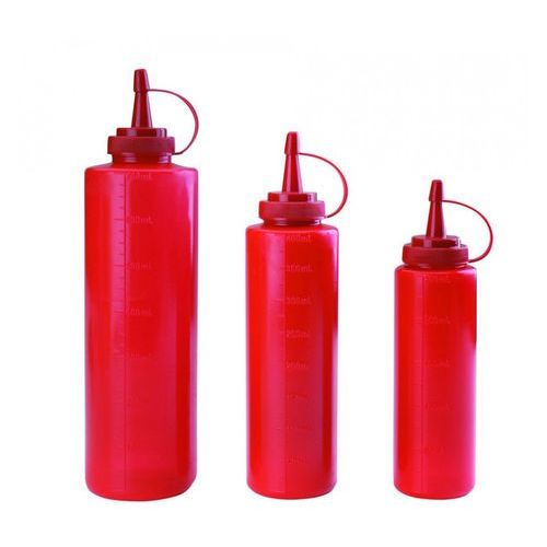 Dyspenser do sosów 0,25 l, czerwony   , t-61925r marki Tomgast