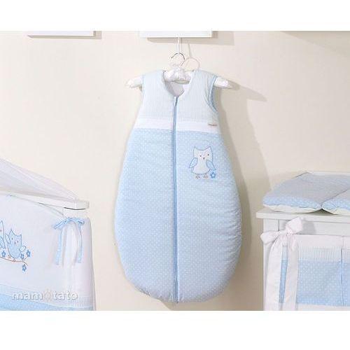 MAMO-TATO Śpiworek haftowany Sówki uszatki błękitne 86-110