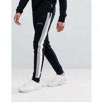 joggers with side stripe and logo - black, Bellfield, M-L