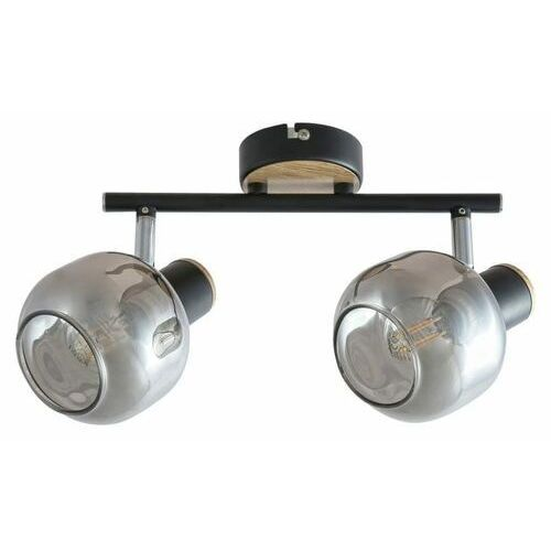 Rabalux Salazar 5398 plafon oprawa sufitowa 2x40W E14 czarna/dąb/dymiona (5998250353982)