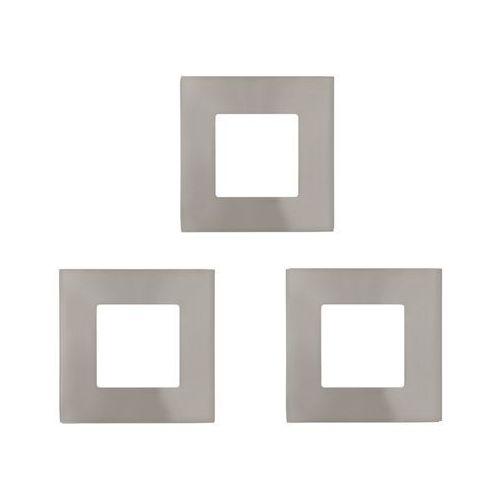 Oczko LAMPA sufitowa FUEVA 1 94735 Eglo podtynkowa OPRAWA ścienna LED 3W kwadratowy wpust komplet 3 szt. satyna (9002759947354)
